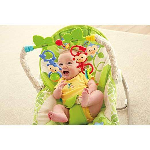 Baby Bouncer Chair Seat Soothing Vibration Interactive Toys Infant Toddler Play