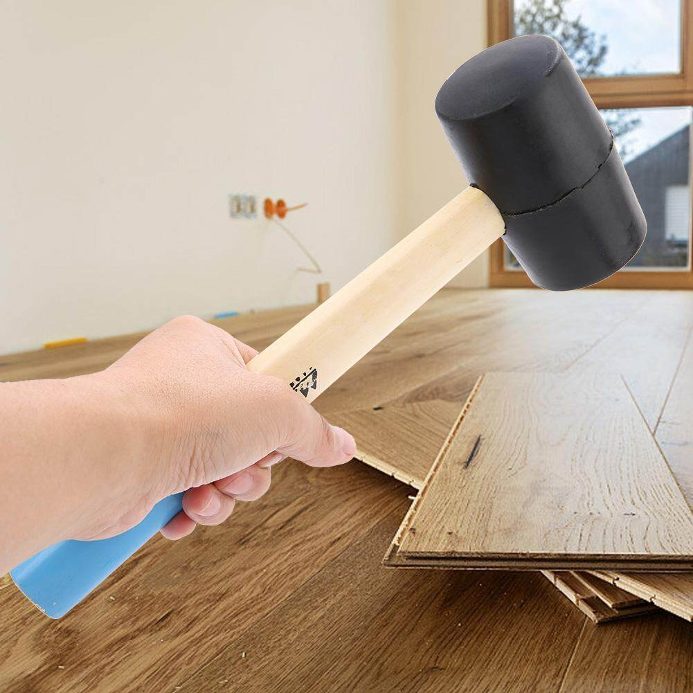 【Promotions】Rubber Head Hammer Rubber Mallet With Wooden Handle Tile Decoration Installing Tool