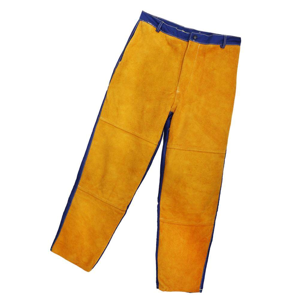 Miracle Shining Welding Suits Heat/Flame Resistant Heavy Duty Anti-scald Yellow Pants
