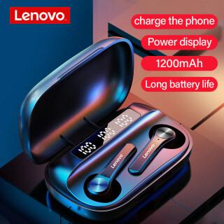 Tai Nghe Không Dây Lenovo QT81 TWS, Stereo Thể Thao Không Thấm Nước Earbuds Tai Nghe Với Microphone , Bluetooth Tai Nghe Cuộc Gọi HD 1200MAh thumbnail