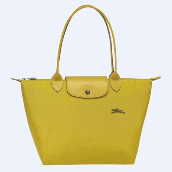 100%Authentic longchamp_Le Pliage Club Tote bag_Waterproof Dumpling Bag fashion handbag_70th anniversary embroidery folding nylon shoulder bag L2605619P19_small_Yellow