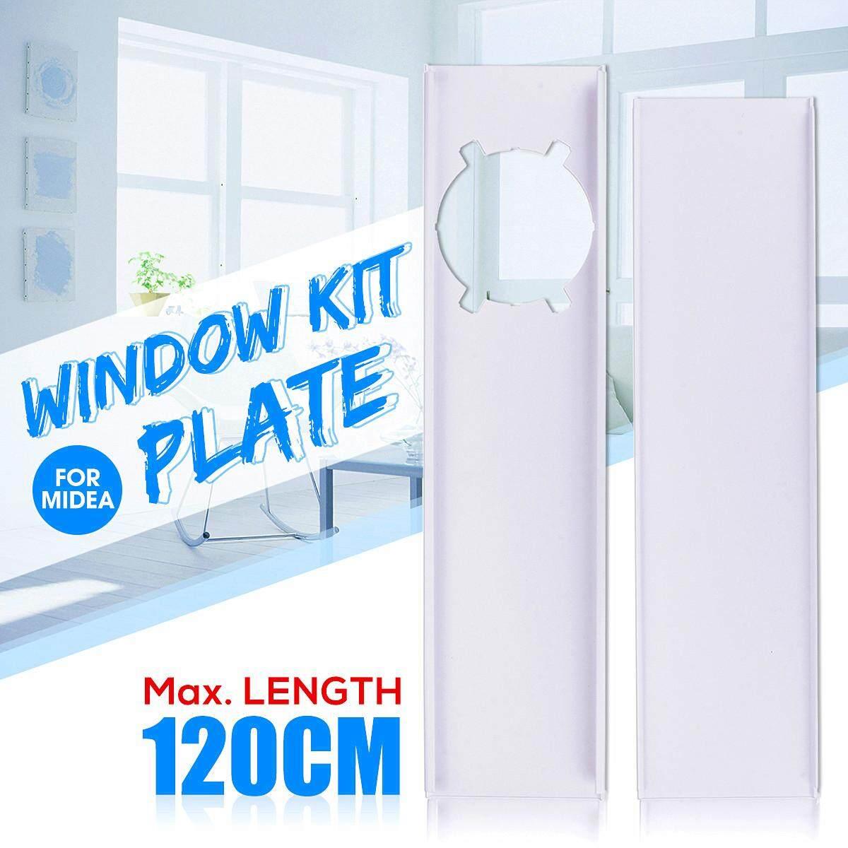 2 Pcs 120 Cm Jendela Piring Slide Disesuaikan Kit untuk Midea Pendingin Ruangan Portable