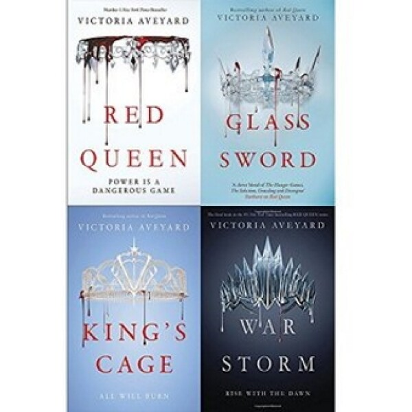 RED QUEEN Series 4 Books Collection by Victoria Aveyard - RED QUEEN / GLASS SWORD /  KINGS CAGE /  WAR STORM - Book #1 Red Queen rated 4.05 from 667,229 ratings in Goodreads  (Paperback) - Original  Guaranteed Malaysia