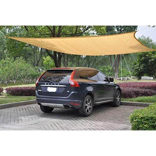Ygs-Sail Ygs 10ft X 20 Ft Oversized Sun Shade Sail Uv Block Fabric Patio Shade Sail In Color Sand By Cross Border.