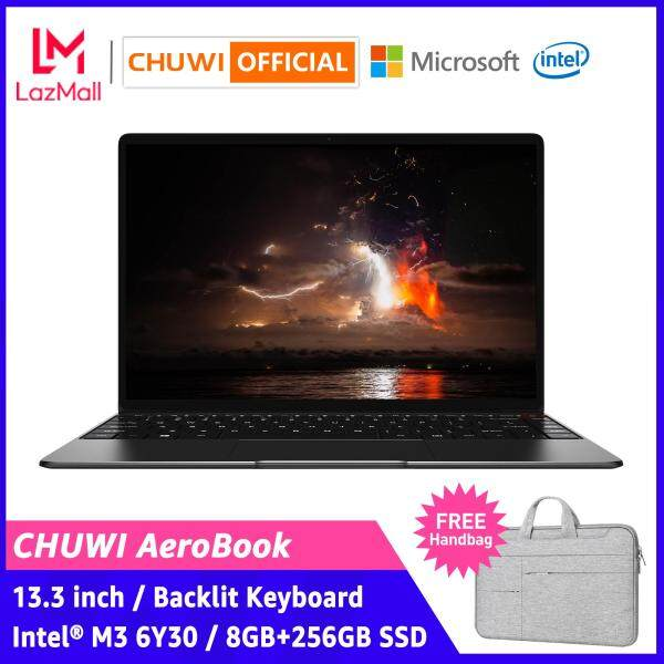 【CHUWI OFFICIAL】AeroBook Laptop / 13.3 Inch 1920*1080 IPS / 8GB RAM+256GB SSD / Intel® M3 CPU / Borderless Backlit Keyboard / Genuine Windows 10 / Dual Band WiFi / 1 Year Warranty Thin Notebook Computer PC