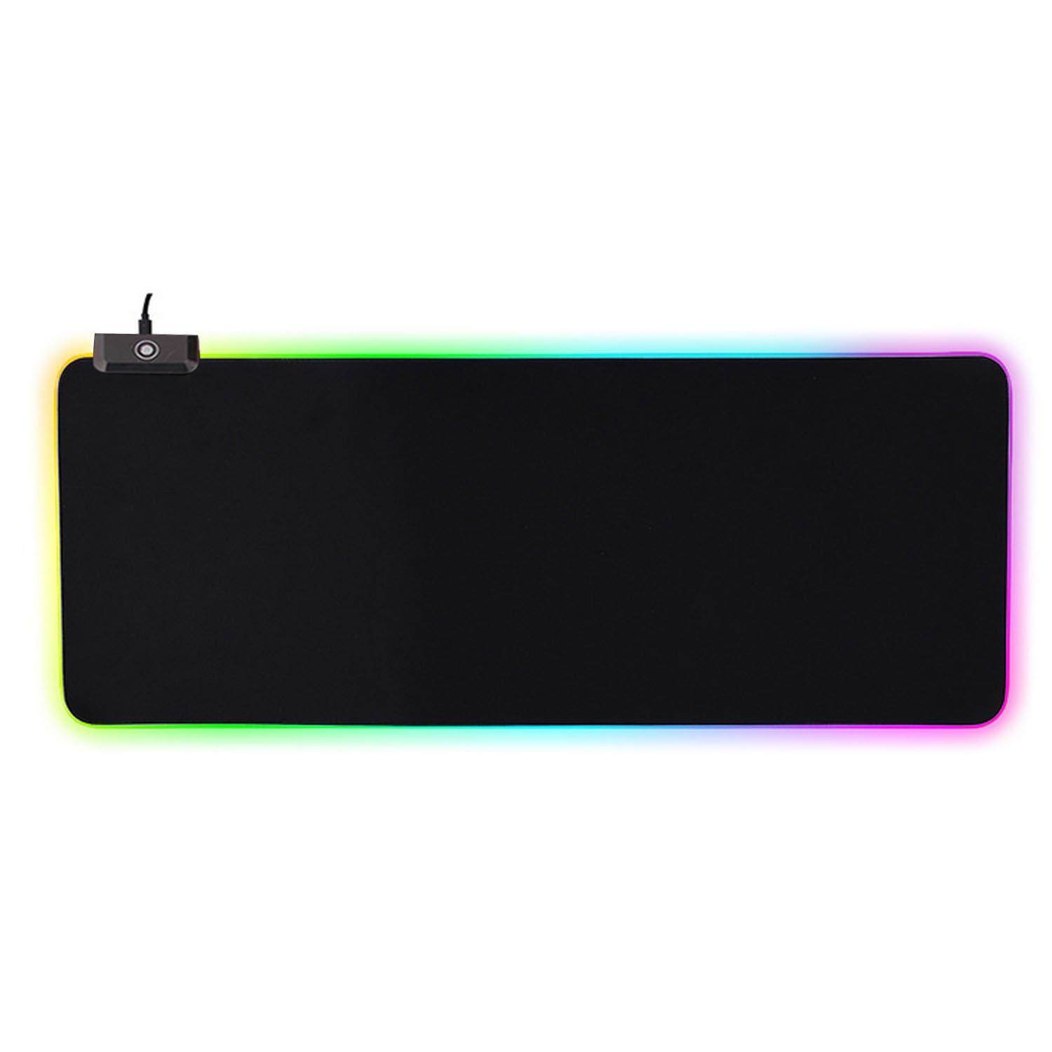 Elek Large USB Wired LED RGB Colorful Lighting Gaming Mousepad Non-Slip Laptop Computer Mice Mat 31 x 12 Inch Malaysia