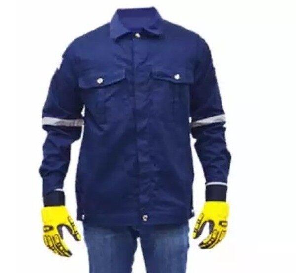 QUEST Safety Reflective Workwear Jacket Navy Blue Size L