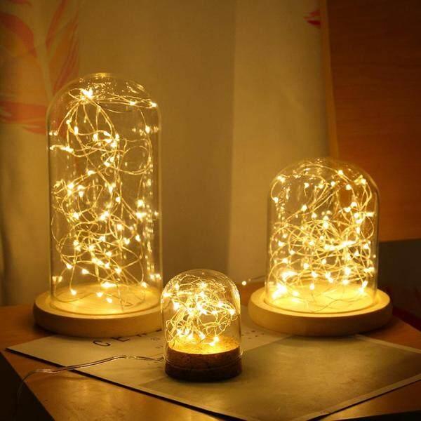 Bảng giá Openmall Đèn Trang Trí Vòng Hoa 1/2M 10/20LED Dây Đồng Đồ Trang Trí Tiệc Đám Cưới Giáng Sinh Chạy Bằng Pin CR2032 Đèn LED Dây Thần Tiên