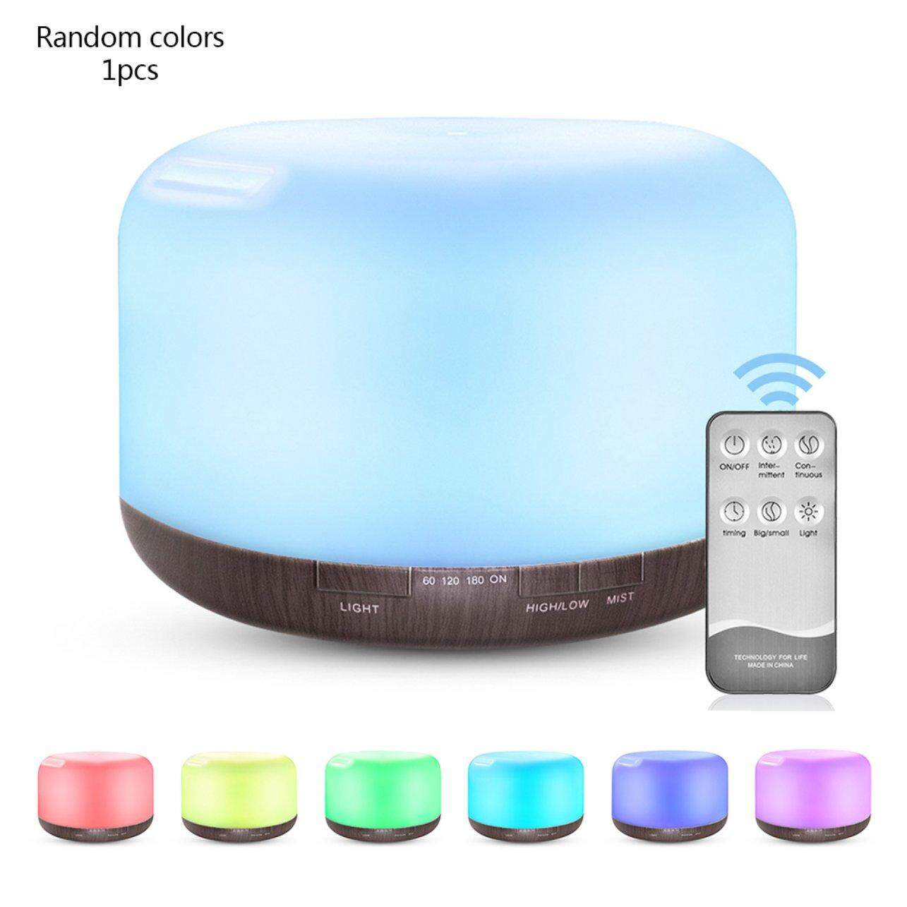 GOOD SHOP 500ML Quiet Colorful Night Light Home Office Aroma Essential Oil Diffuser