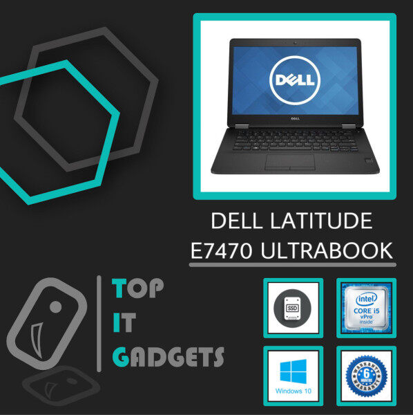 DELL LATITUDE E7470 ULTRABOOK BUSINESS [ INTEL CORE I5 6TH GEN SKYLAKE / 8GB DDR4 RAM / 256GB SSD STORAGE / WINDOW 10 PRO GENUINE ] 6 MONTHS WARRANTY [ LAPTOP ] Malaysia