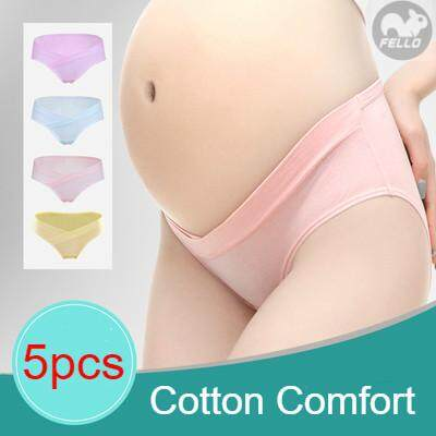 9bb6471e67347 Ready Stock Fello set of 5pcs Female Low Waist Cotton Maternity Pregnant  Briefs Panties