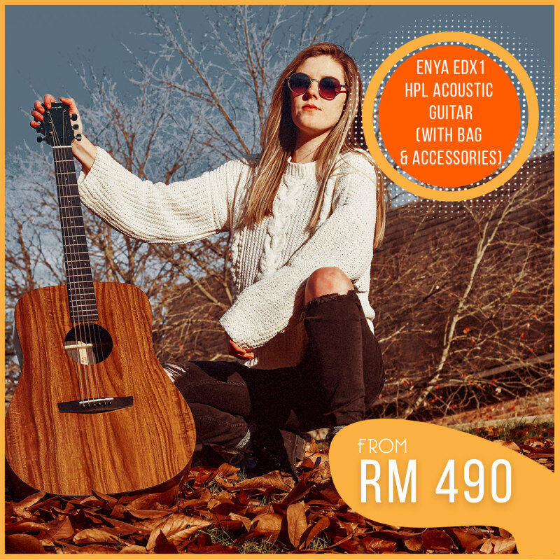 ENYA EDX1 41 HPL DREADNOUGHT ACOUSTIC GUITAR WITH PREMIUM BAG AND ACCESSORIES PACK (HIGH PRESSURED LAMINATE WOOD/ ACO GUITAR PACKAGE/ ED-X1/ SEAMUSICIAN) Malaysia