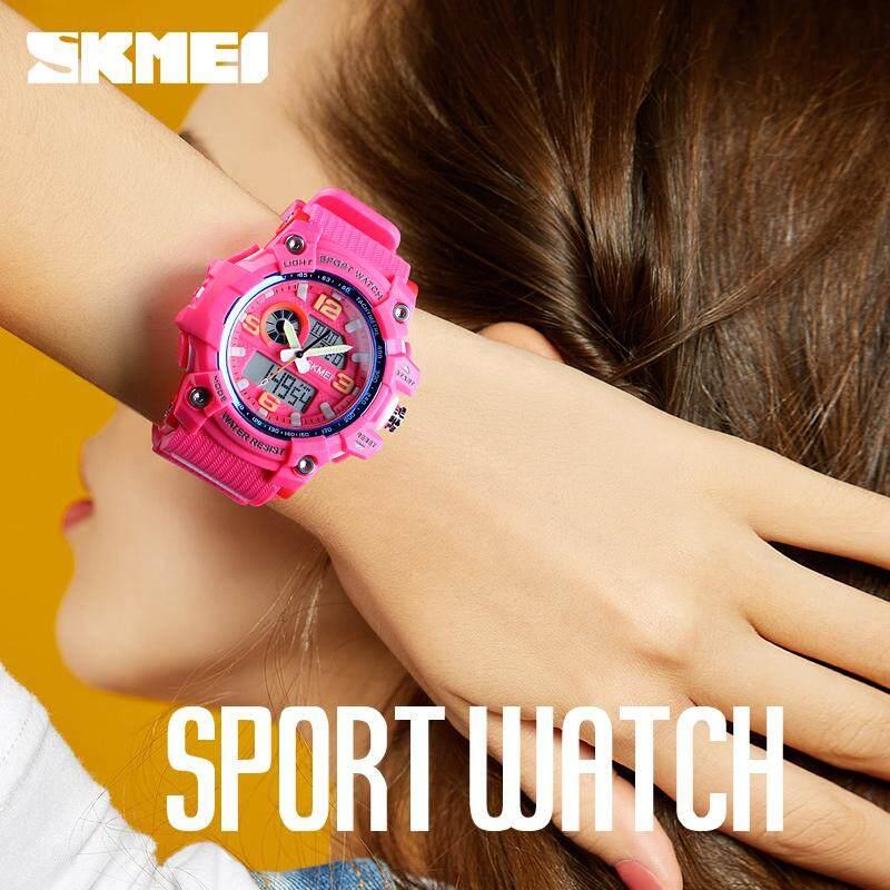 SKMEI Women Watch New 2018 Top Luxury Brand Sport Watch Electronic Digital Male Wrist Clock Women 50M Waterproof Womens Watches Malaysia