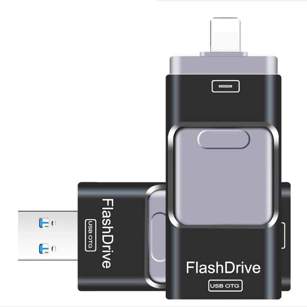 Giá 3in1 Lightning OTG USB Pendrive 1TB 1024GB 1T USB For iPhone /Android/PC Black