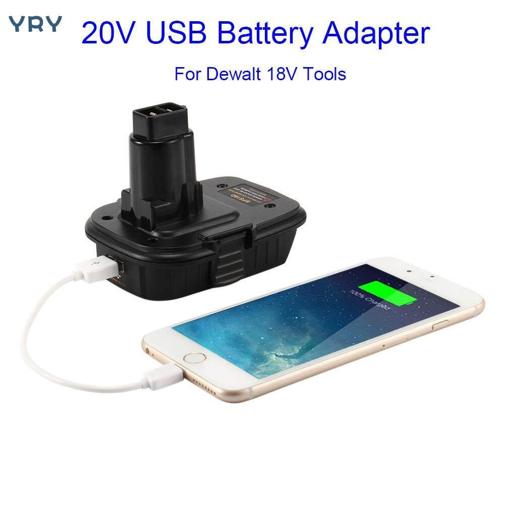 Yry【hot Sale】 USB Adapter Chuyển Đổi BPS18D Cho Dewalt 18V Ni Pin Chuyển Đổi Đến 18V Dụng Cụ 【Within 48 Hours】
