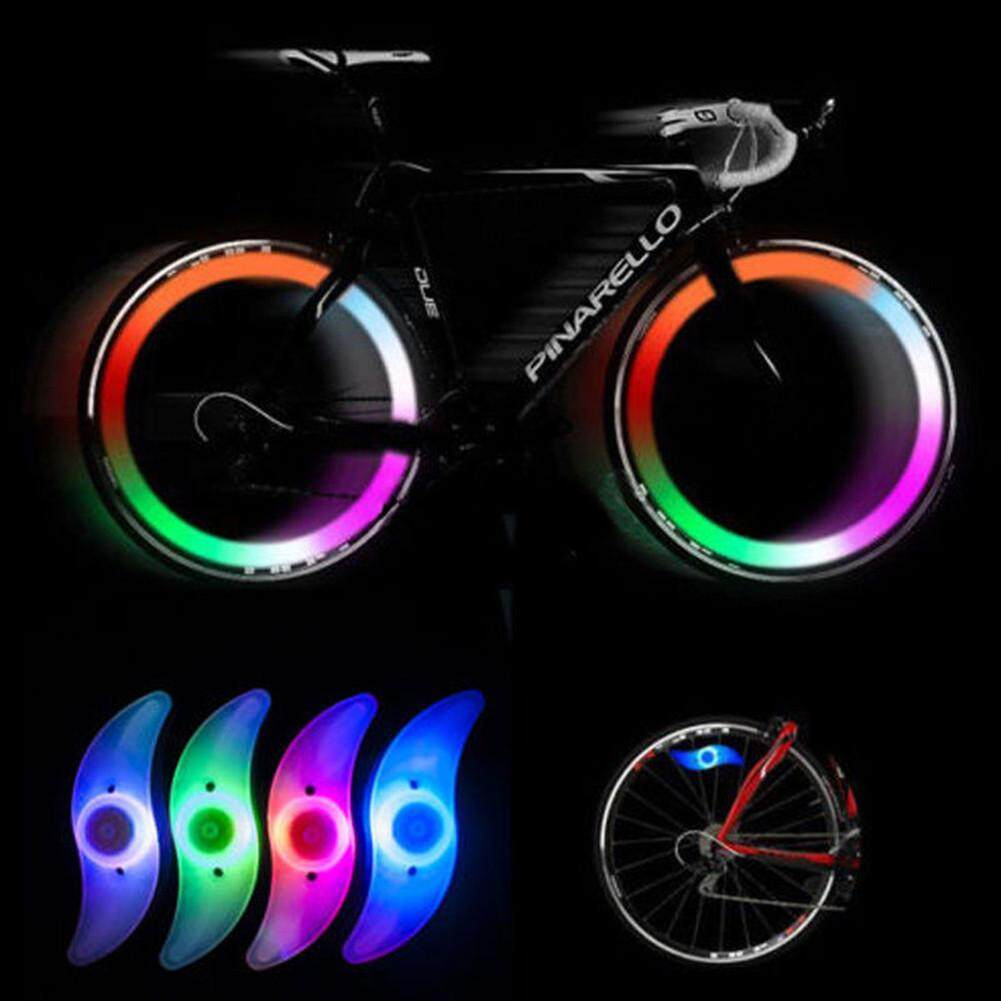 Colorful Bike Bicycle Cycling Spoke Wire Tire Rim Wheel LED Bright Light Lamp ^