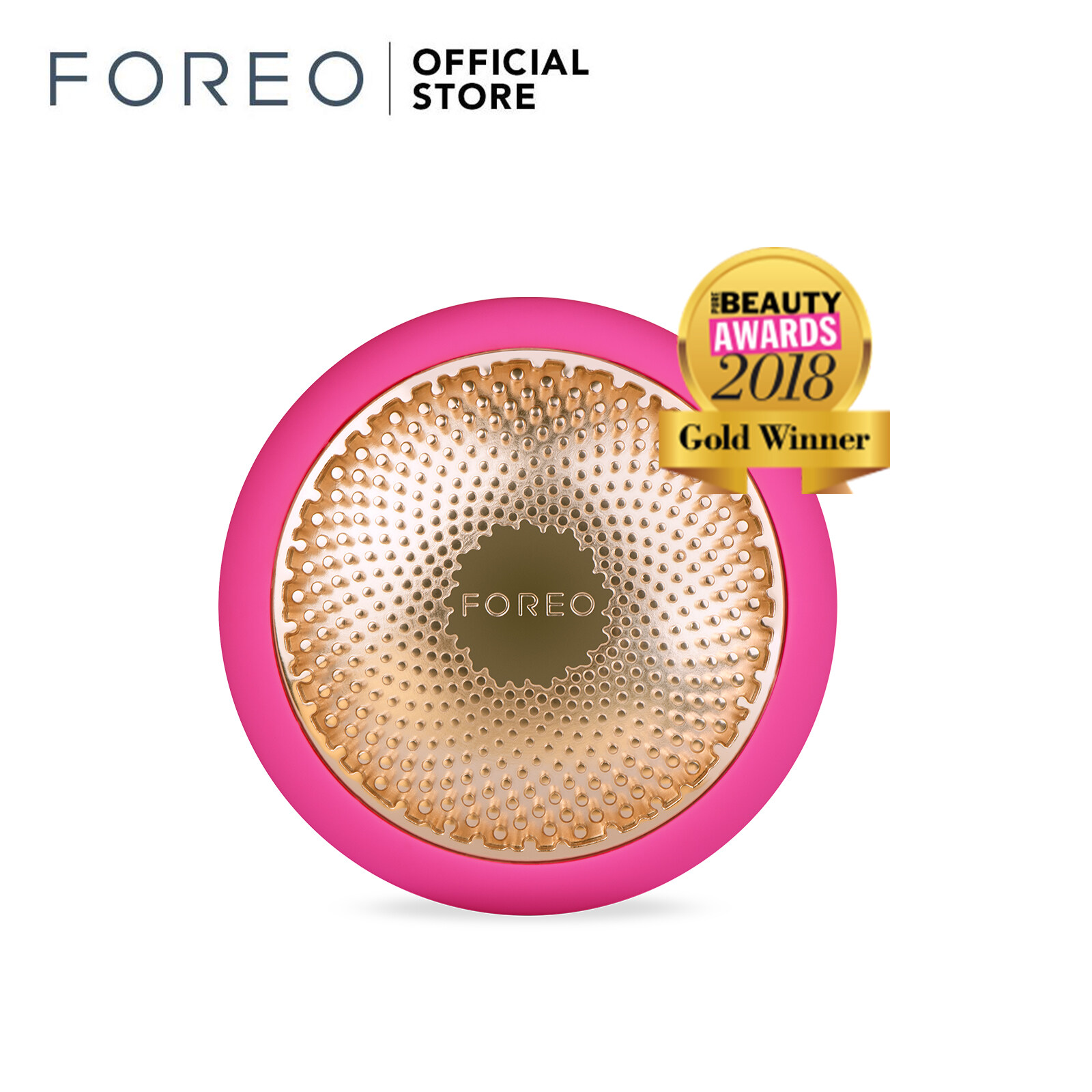 Foreo Ufo Led Light Waterproof And Rechargeable Portable App Connected Rechargeable T Sonic Heat And Cool Facial Mask Massager Treatment Device For Face Lifting Tightening And Anti Ageing Home Spa Fuchsia