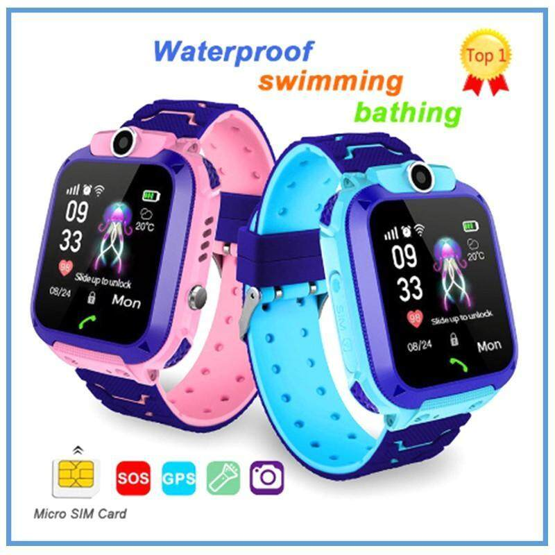 Kids Smart Watch Q12 Waterproof  Student Smart Watch Dial Call Voice Chat Malaysia
