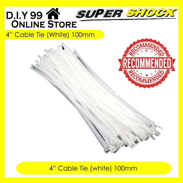100pcs Cable Tie (White) / Zip Ties - 4 / 6 / 8 / 10 / 12 inch size
