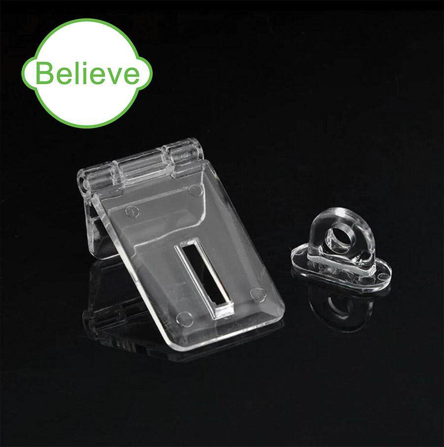 Crystal Clear Acrylic Lock Hasp Transparent For Donation Box (2pcs per pack)