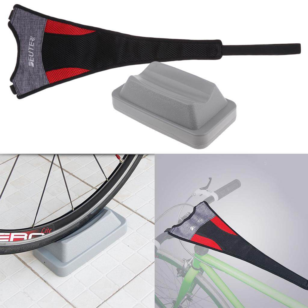 Miracle Shining Bike Trainer Sweat Catcher Net Cover Strap Frame Guard & Front Wheel Riser By Miracle Shining.