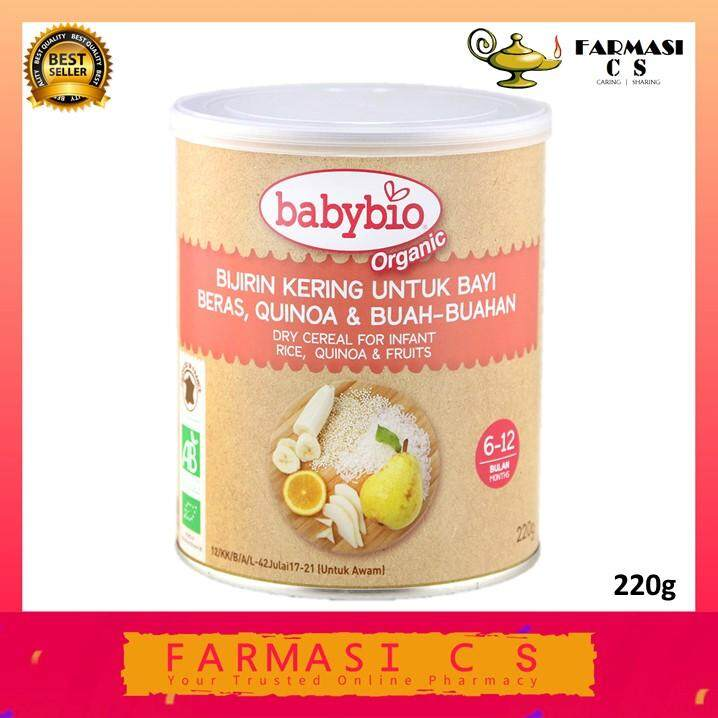 Babybio Organic Dry Cereal For Infant Rice, Quinoa & Fruits (6 - 12 months) 220g EXP:03/2021