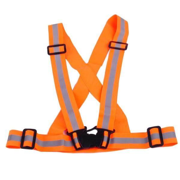 Adjustable Safety High Visibility Reflective Vest Waistcoat (GREEN / ORANGE)