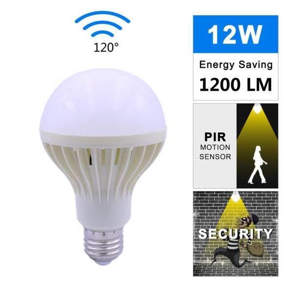 Đèn LED Cảm Biến Chuyển Động PIR, 3W 5W 7W 9W 12w220v Bóng Đèn Âm Thanh Cơ Thể Hồng Ngoại Thông Minh Tự Động + Ánh Sáng E27