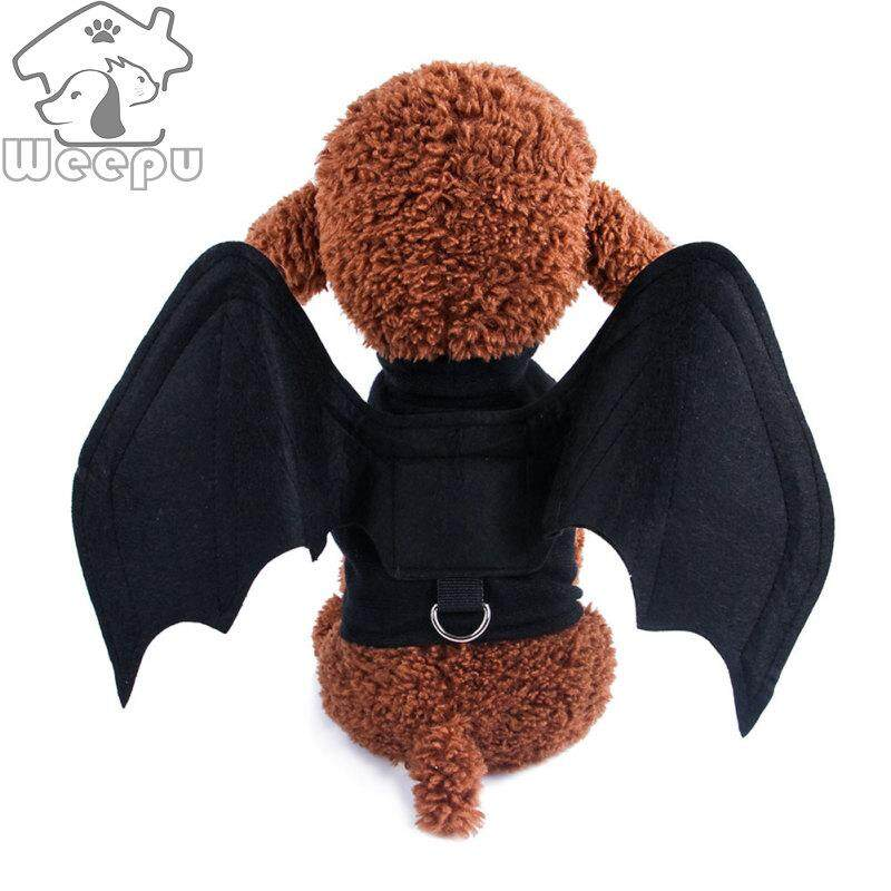 【Ready Stock】Weepu Pet Clothes Dog Clothes Halloween Bat Wings Costume for Pets Cosplay【S/M/L】