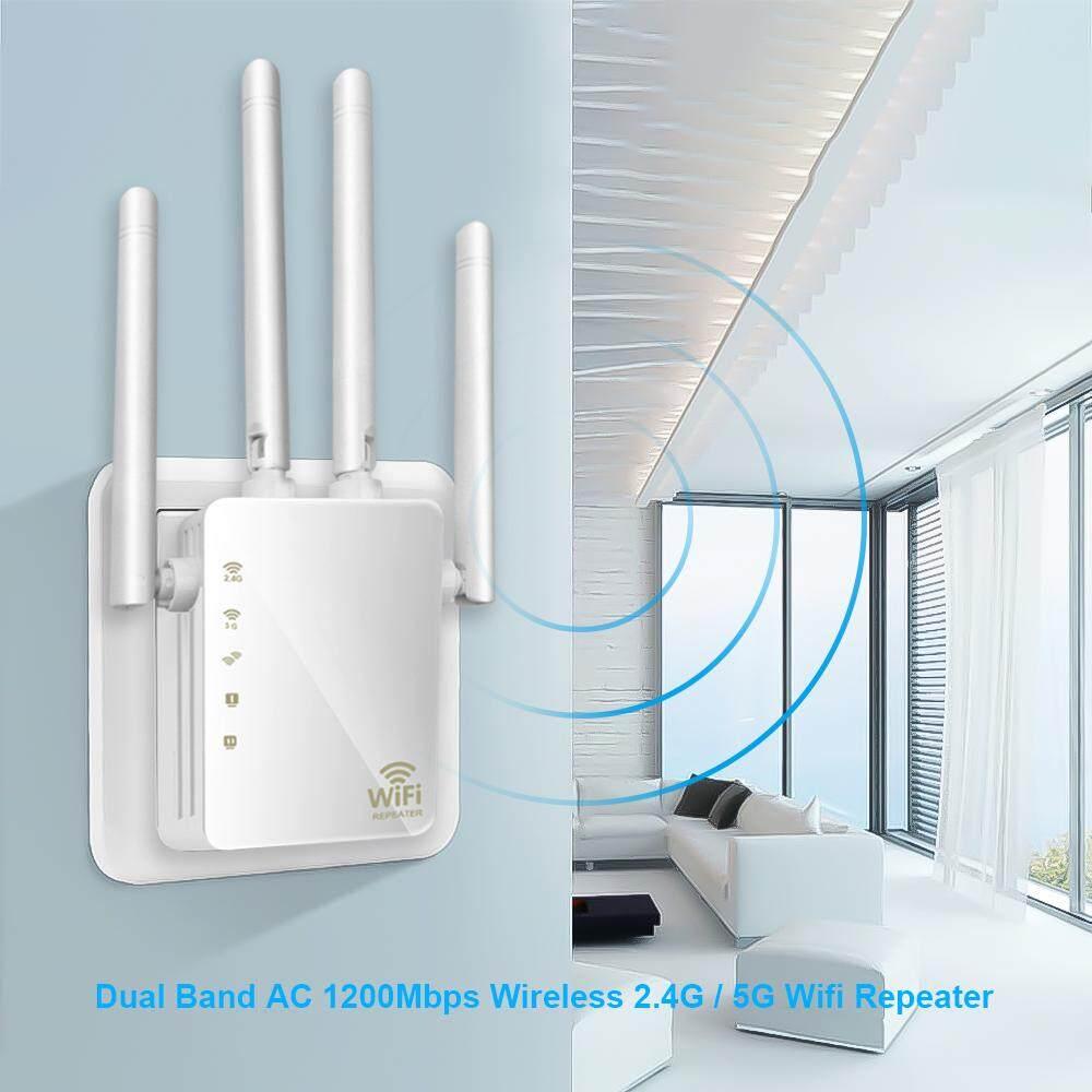 ไร้สายอุปกรณ์ช่วยขยายช่วงสัญญาณ Wifi 1200 Mbps 2.4g และ 5g Dual Band ตัวขยายสัญญาณ Wifi Ap สัญญาณเครือข่าย Booster Range Extender.