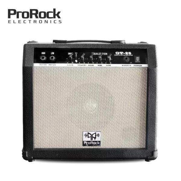 ProRock 25 Watt 2 inputs Electric Guitar Amplifier with Equalizer and Gain Overdrive Effect Amp Malaysia