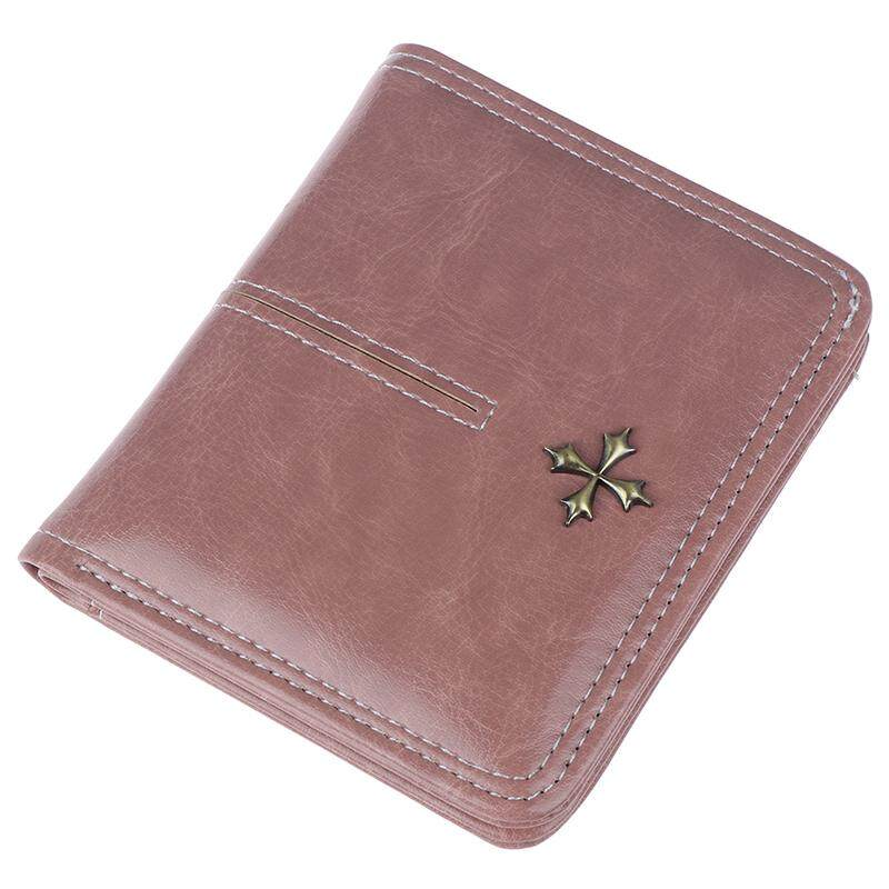Fashionday Women Small Bifold Leather Wallet Mini Zipper Coin Purse ID Card Pocket