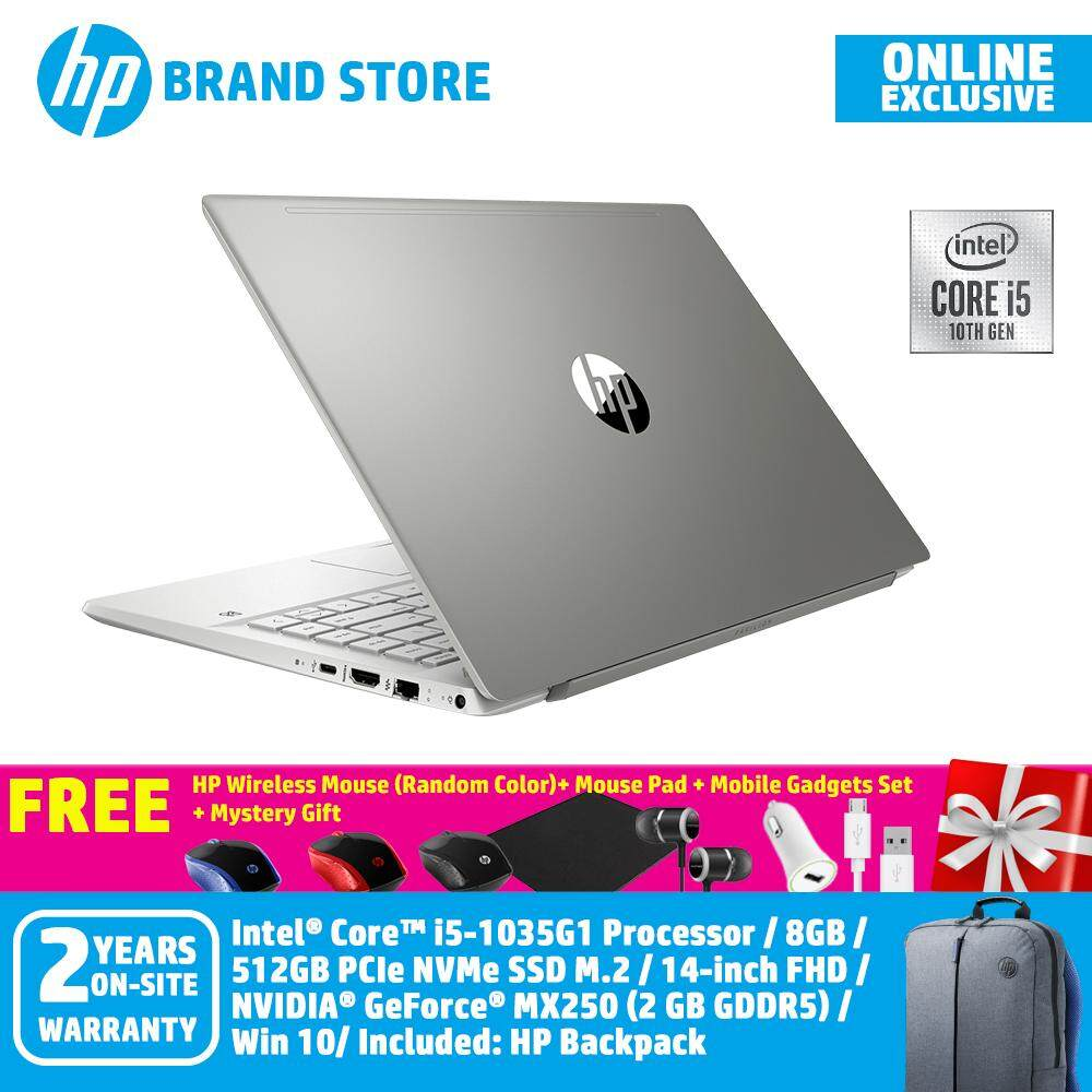 [ONLINE EXCLUSIVE] HP Pavilion 14-ce3050tx/ 14-ce3051tx/ 14-ce3052tx Notebook /i5-1035G1/8GB/512GB/14-Inch FHD/MX250-2GB/WIN 10+Free HP Wireless Mouse (Random Color)+ Mouse Pad + Mobile Gadgets Set + Mystery Gift Malaysia