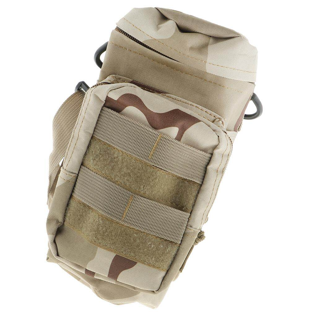Tactical Molle Water Bottle Carrier Holder Pouch Outdoor Adjustable Kettle Bag
