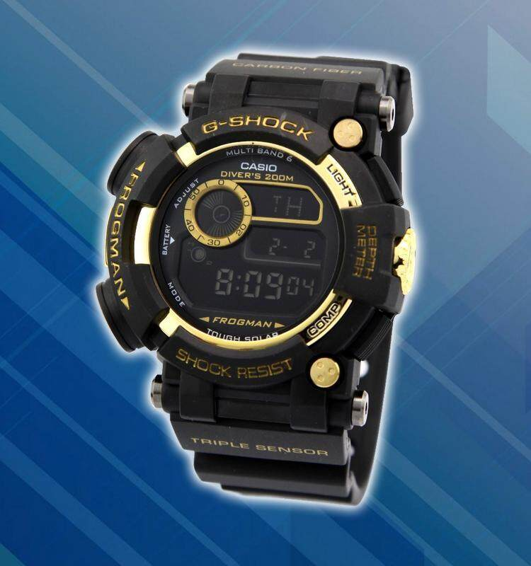 Special Promotion New Sport Casio G-SHOCK_Frogman Digital Time Display Fashion Casual Watch For Men Ready Stock 100% Mineral Glass New Design Full Set All Colour Available Malaysia