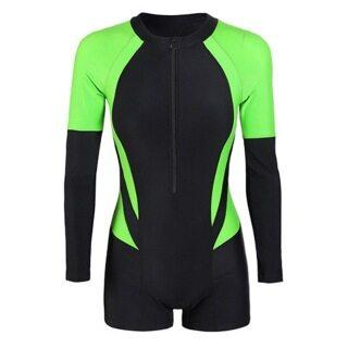 Sews Shorty Wetsuit Đồ Bơi Nữ Giữ Nhiệt Bằng Cao Su Neoprene 3Mm Trở Lại Zip Cho Scuba Diving Lặn Lướt Sóng Lặn Bơi thumbnail