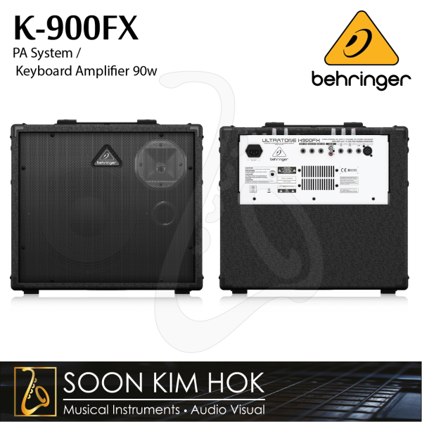 BEHRINGER K-900FX Ultra-Flexible 90W 3Ch. PA System / Keyboard Amplifier with FX and FBQ Feedback Detection 90w (K900FX) Malaysia