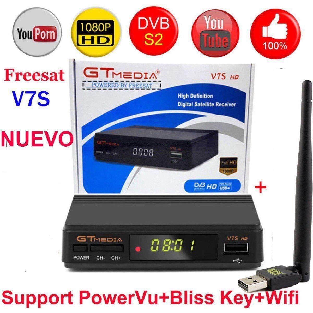 W-Đồ Chơi Freesat V7S HD FTA TRUYỀN HÌNH Kỹ Thuật Số Vệ Tinh Thu DVB-S2/S Hỗ Trợ BissKey 1080 P
