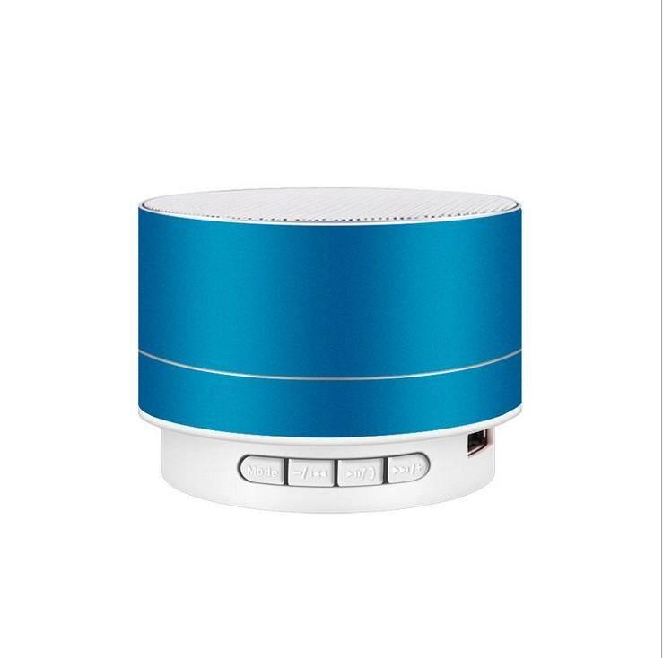 Supermall Wirelesss LED Phát Sáng Bộ Thu Bluetooth rảnh Tay Nghe Nhạc Kim Loại Loa Bluetooth