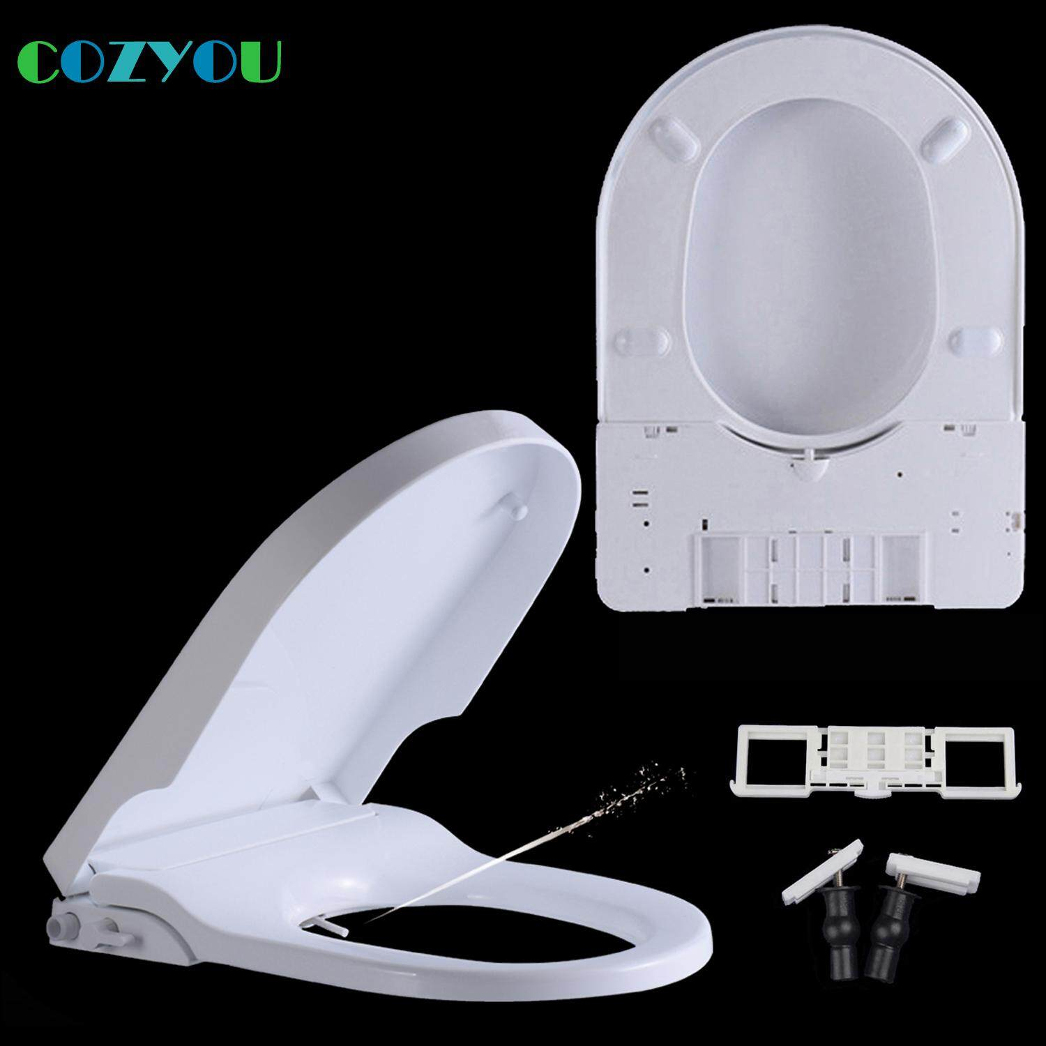 Thicken U shaped intelligent Toilet seat Female Washing Bidet Nozzle Slow close Quick Release Easy Cleaning white PP board Slow Closed wc lid GBP1703BSU