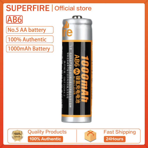 Supfire AB6 Không Có. 5 AA Cao Bộ Sạc Pin Dung Lượng 1000MAh Đèn Pin Sáng Mạnh