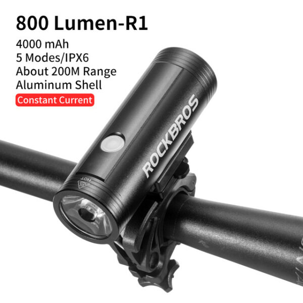 ROCKBROS Aluminum shell Bicycle Light High quality Waterproof Light USB Charging Cycling Headlight LED Flashlight Mountain Bike Lamp