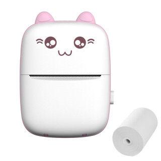 Henggu9749539 Máy In Mini Máy In Nhiệt Hình Mèo Dễ Thương Mini Cầm Tay Bỏ Túi Cầm Tay Bluetooth Không Mực, Dành Cho Học Sinh [Còn Hàng] thumbnail