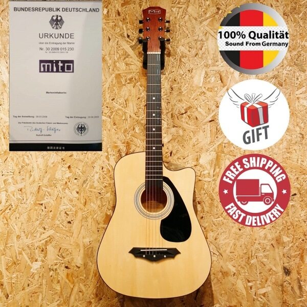 Mito D-38EQ 38 Inch Matt Natural Acoustic Guitar Folk Guitar [Sound From Germany] # Gibson Fender F-310 Kapok F310 LTD Malaysia