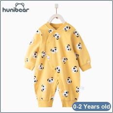 Bộ áo liền quần Hunibear làm bằng vải bông nguyên chất dành cho trẻ sơ sinh từ 0-24 tháng tuổi – INTL