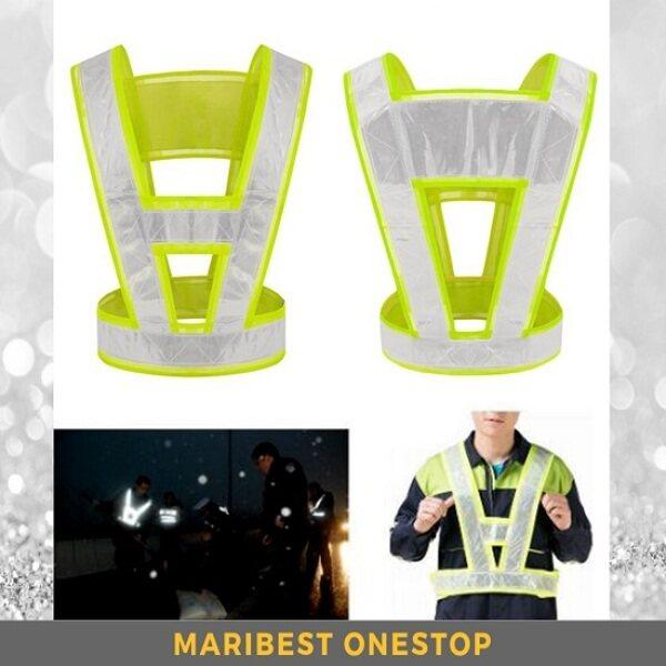 High Reflective Stripe V-Shape V Safety Vest Safety Jacket Night Safety Outdoor Jogging Cycling