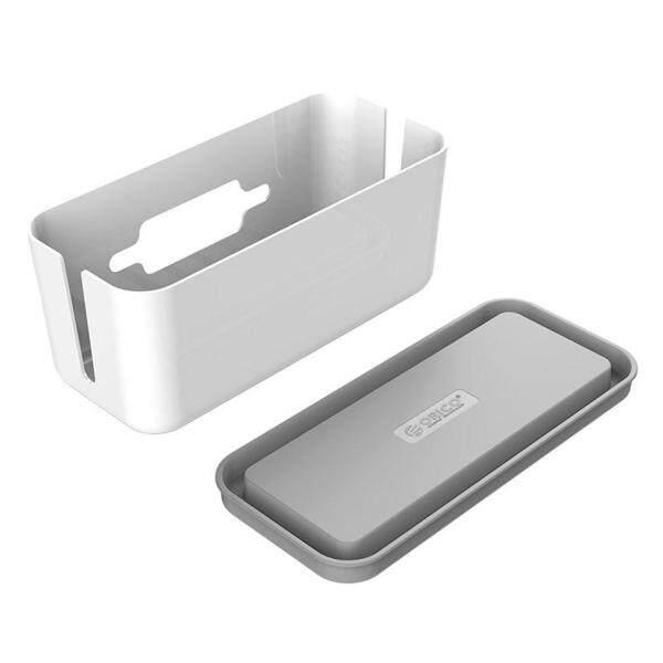Portable Hard Plastic Desk Organizer Cable Winder Container Case Storage Box