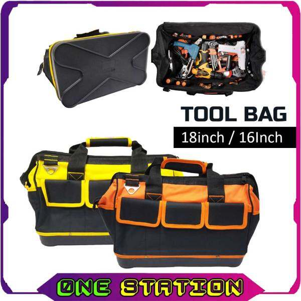 16 18 Inches ABS Base Canvas Heavy Duty Large Capacity Multi-Compartment Pouch Shoulder Tool Storage Bag