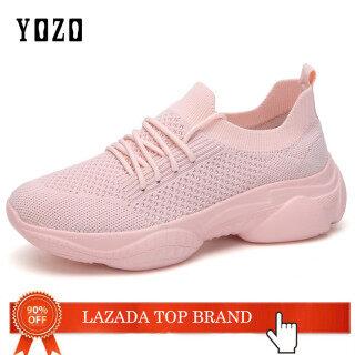 Giày YOZO Cho Nữ Giày Chạy Bộ Nữ Thời Trang Giày Lưới, Giày Thể Thao Thoáng Khí Giày Dép Ngoài Trời Màu Trơn Co Giãn Giày Tập Thể Dục Thể Hình Trọng Lượng Nhẹ Thời Trang Giày Thể Thao Đế Hình Gấu 2020 thumbnail