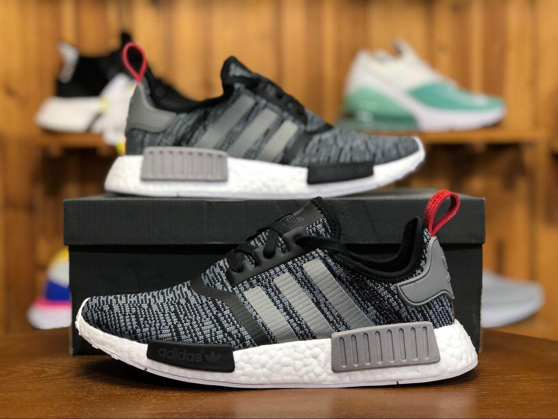 cc346d578 Sale ADIDA 2018 NMD  R1 Runner Nomad Glitch Camo Pack Black BB2884 Women  and Men Sneaker